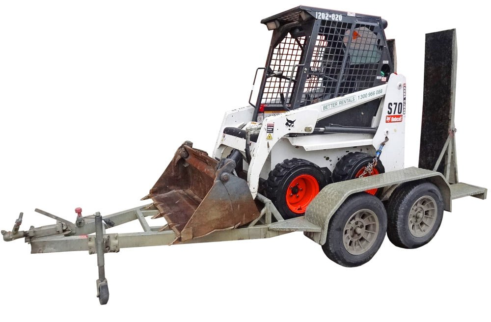 Mini Bobcat Skidsteer Hire with Trailer | Better Rentals