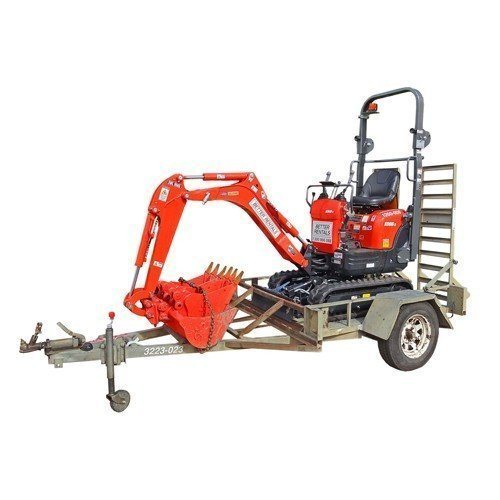 Excavator Hire 1 tonne and trailer