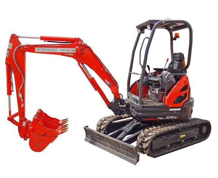 Excavator Hire 3t