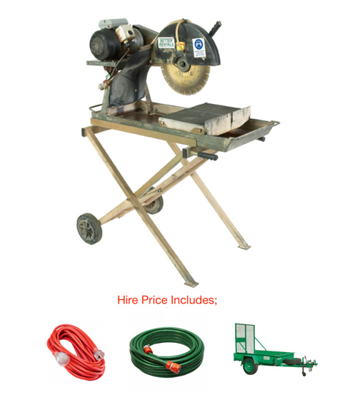 brick saw hire