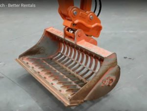 hydraulic excavator quick hitch