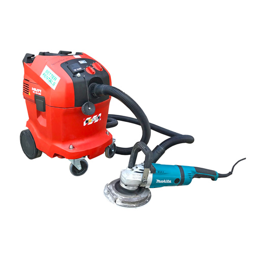 concrete grinder hire hand held and vacuum