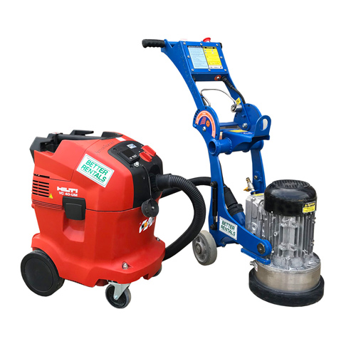 concrete grinder hire and vacuum