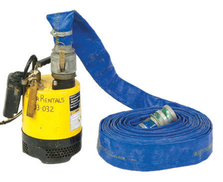 pump hire 50mm sub