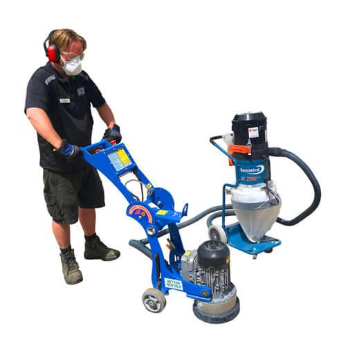 250mm floor grimnder and medium vacuum